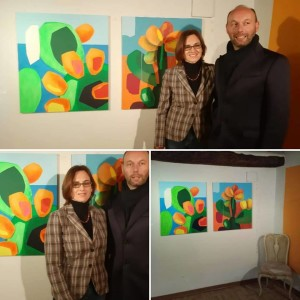 con l'artista Andrea Mattiello
